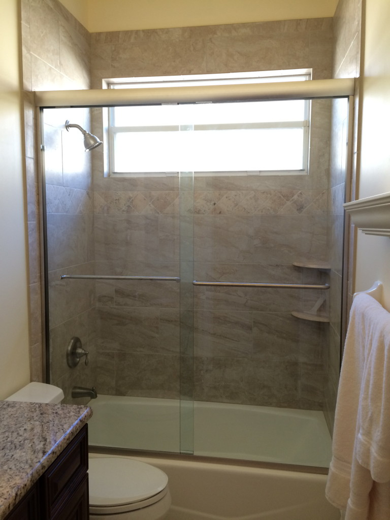 Frameless Sliding Tub Shower Enclosure