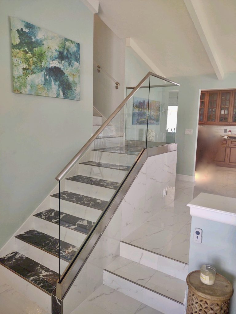 Glass Railing on Stairs Naples FL